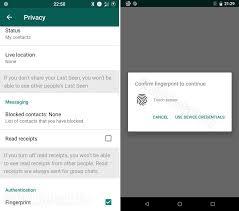 WhatsApp: aggiornamento abilita lo sblocco tramite impronta