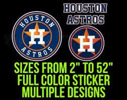 Houston Astros Decal Etsy
