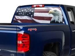 Sec10 Silverado 1500 Perforated Flag And Eagle Rear Window Decal S103540 07 21 Silverado 1500