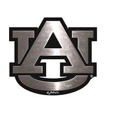 Amazon Com Auburn Tigers Silver Tone Auto Emblem Sports Outdoors Auburn Tigers Car Emblem Auburn