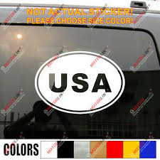 Usa Oval Country Code American Car Decal Sticker Choose Color And Size Ebay