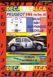 Peugeot 205 Turbo 16 123 Fbl 75 Shell Decal Designers 3 048