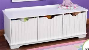New Wooden 3 Bin Storage Bench Toy Kids Room Bedroom Furniture Nantucket