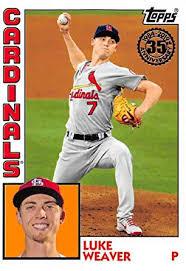 Amazon.com: 2019 Topps Series 1 Baseball 35th Anniversary 1984 '84#T84-13 Luke  Weaver St. Louis Cardinals: Collectibles & Fine Art