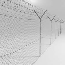 Barbed Wire Fence Low Poly 3d Model 6 Obj Fbx Max Free3d