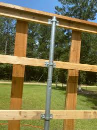 Wood To Round Steel Post Adaptors Line Configuration Hoover Fence Co