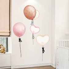 Shijuehezi Colorful Balloons Wall Stickers Pvc Diy Cartoon Wall Decals For Kids Rooms Living Room Shop Glass Decoration Belenydogen