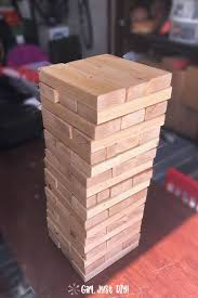 diy giant jenga game from 2x4s girl