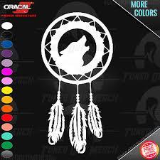 Wolf Howling Dream Catcher Dreamcatcher Car Window Wall Vinyl Decal Sticker Ebay