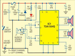car stereo player circuit deled