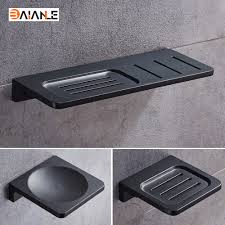 space aluminum black soap dish wall
