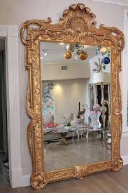 full length gold rococo dress mirror