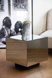 mirrored cube side table rockett st