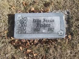 Headstones: Headstone: Effie Jessie Fisher 1902-1917
