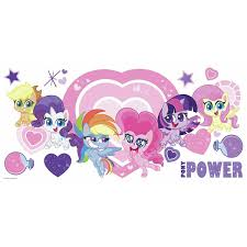 My Little Pony Let S Get Magical Peel And Stick Giant Wall Decals