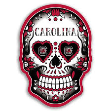 South Carolina Gamecocks Skull Vinyl Decal Upstate Tailgate Inc