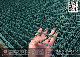 Welded Wire Mesh Fence Panels Pvc Coated Ral6005 Green Color Fence Panel