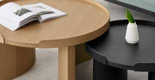 kulma nesting coffee table black