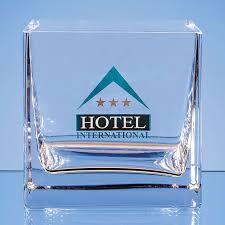 12cm handmade square clear glass bowl