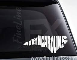 North Carolina State Word Art Vinyl Decal Sticker