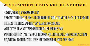 wisdom tooth pain relief i 5 simple