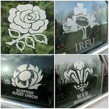 Etched Glass Colour Sticker Rugby England Ireland Wales Scotland Window Decal Ebay