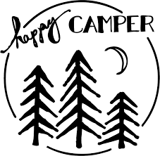 Amazon Com Tdt Printing Custom Decals The Happy Camper Vinyl Decal Sticker For Car Or Truck Windows Laptops Etc Automotive