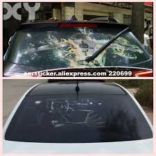 Funny Creative Terrifying Ghost Car Stickers For Car Rear Window Against High Beam Decals Removeable Support Customization Car Stickers Aliexpress