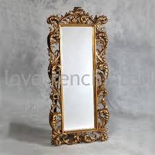 gold rococo cheval mirror