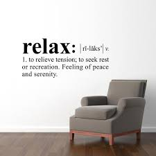 Relax Definition Wall Decal Dictionary Definition Decal Etsy