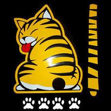 Funny Car Rear Windshield Wiper Decal Sticker Cat Paw Tail Wagging Wiper Decor Ebay