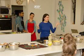 Studnents from 74 School in Sofia cook with Pakistani chef Saif ur ...