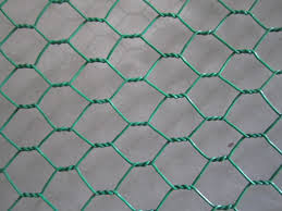 Vinyl Coated Chicken Wire Black And Green For Garden Fencing And Poultry Fencing
