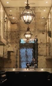 antique mirror glass mirror backsplash