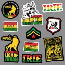 Rasta Sticker Set Vinyl Decal Love Bob Marley Lion Judah Jah Reggae 420 Car Bike Ebay