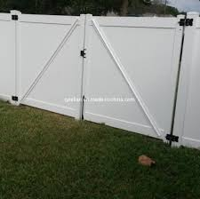 China 6 X 8 Vinyl Private Fence Double Gate White Vinyl Garden Fence Gate China White Vinyl Garden Fence Gate 6 X 8 Vinyl Private Fence Double Gate