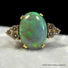 superb vintage australian black opal