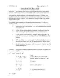 beg alg 09 solving literal equations