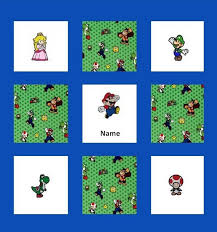 custom embroidered super mario brothers