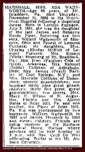 Ada Mae Piper Marshall (1884-1969) - Find A Grave Memorial