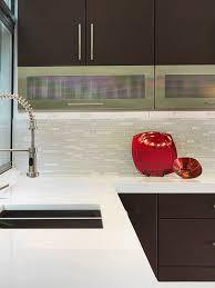 modern white marble glass kitchen
