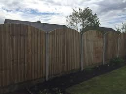 Vertilap Fence Panels 6ft X 5ft High Arch Top Amazon Co Uk Garden Outdoors