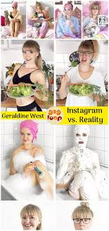 Instagram vs. Reality: German Artist Geraldine West | Instagram, Reality,  Fun