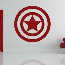Captain America Avengers Superhero Logo Wall Art Sticker As10214 For Sale Online Ebay