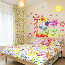 Amazon Com My Box 19 6 X27 5 Rainbow Sunflower Home Art Decoration Wall Stickers Wall Decals Removable Wall Decal Super For Nursery Children S Bedroom Kitchen Dining