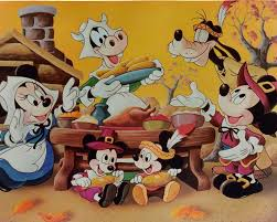 mickey and minnie thanksgiving clipart