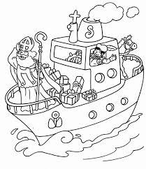 Kleurplaat Pakjesboot Sinterklaas Kleurplaatje Nl