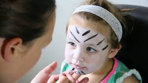 cute simple white tiger face paint