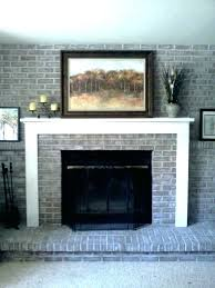 brick house painting fireplace brick