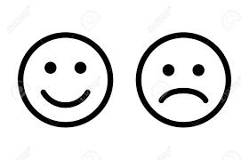 happy and sad emoji smiley faces line